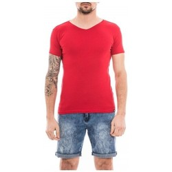 Vêtements Homme T-shirts manches courtes Ritchie T-shirt col V pur coton organique WORKAWAY Rouge