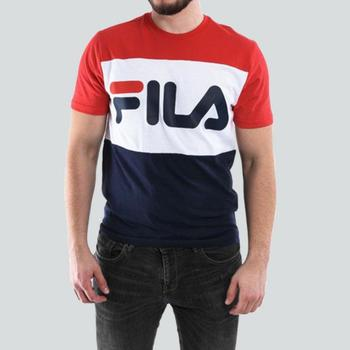 Vêtements T-shirts manches courtes Fila FILA MEN DAY T-SHIRT MARINE/ROUGE Rouge