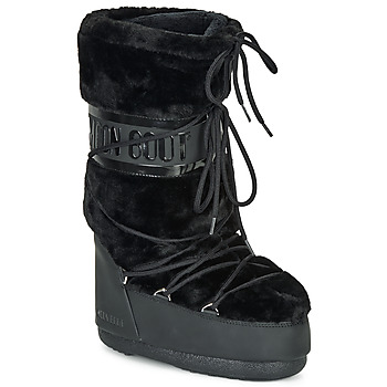 Chaussures Femme Bottes de neige Moon Boot MOON BOOT CLASSIC FAUX FUR Noir