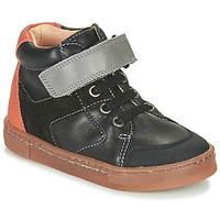 Chaussures Garçon Baskets montantes Babybotte KEN Noir / Orange