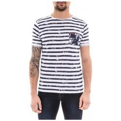 Vêtements Homme T-shirts manches courtes Ritchie T-shirt col rond pur coton NOBORU Bleu marine