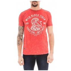 Vêtements Homme T-shirts manches courtes Ritchie T-shirt col rond pur coton NECTARINE Rouge