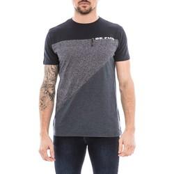 Vêtements Homme T-shirts manches courtes Ritchie T-shirt col rond pur coton NOUKY Bleu marine