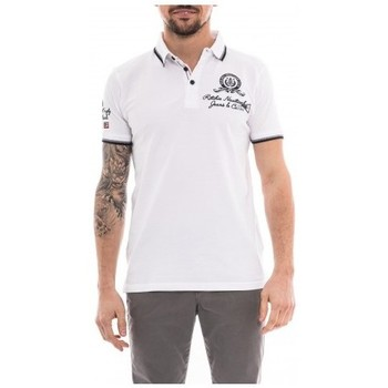 Vêtements Homme Polos manches courtes Ritchie Polo pur coton POUKI Blanc