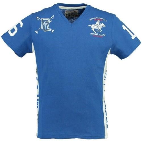 Vêtements Homme T-shirts manches courtes Geographical Norway Tshirt Homme Jevian Bleu