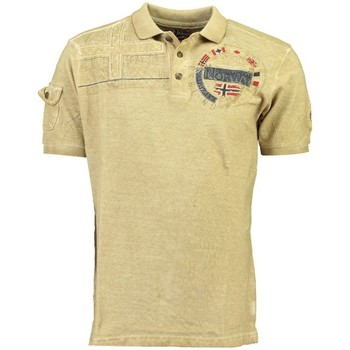 Vêtements Homme Polos manches courtes Geographical Norway Polo Homme Kinflat Beige