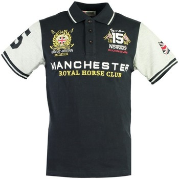 Vêtements Homme Polos manches courtes Geographical Norway Polo Homme Kingston New Bleu