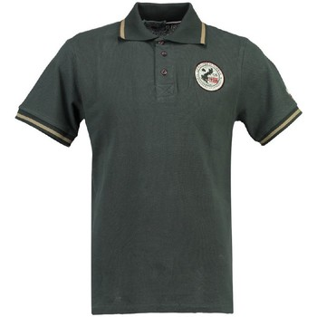 Vêtements Homme Polos manches courtes Geographical Norway Polo Homme Kamelo Gris