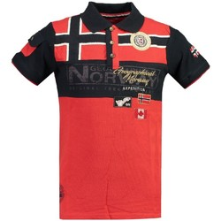 Vêtements Homme Polos manches courtes Geographical Norway Polo Homme Klipo Rouge