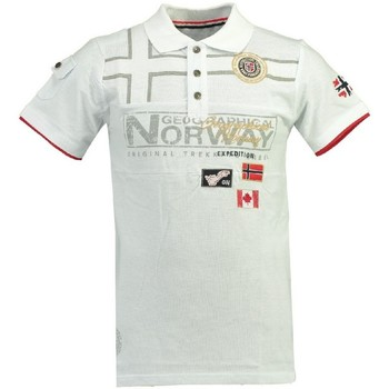 Vêtements Homme Polos manches courtes Geographical Norway Polo Homme Klipo Blanc