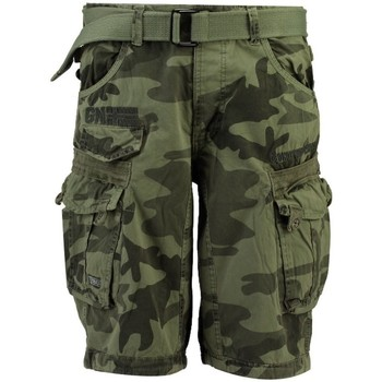 Vêtements Homme Shorts / Bermudas Geographical Norway Bermuda Homme Panoramique Camo New Gris