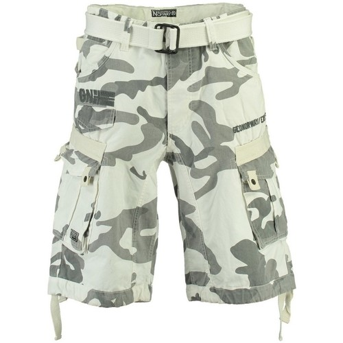 Vêtements Homme Shorts / Bermudas Geographical Norway Bermuda Homme Panoramique Camo New Blanc