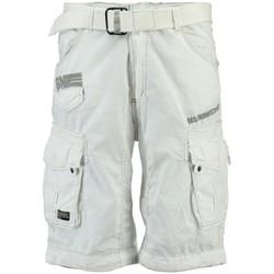 Vêtements Homme Shorts / Bermudas Geographical Norway Bermuda Homme Panoramique Color New Blanc