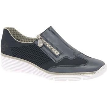 Chaussures Femme Slip ons Rieker 587F8 MARINE