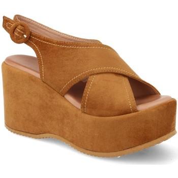 Chaussures Femme Sandales et Nu-pieds Buonarotti 1FF-19168 Camel