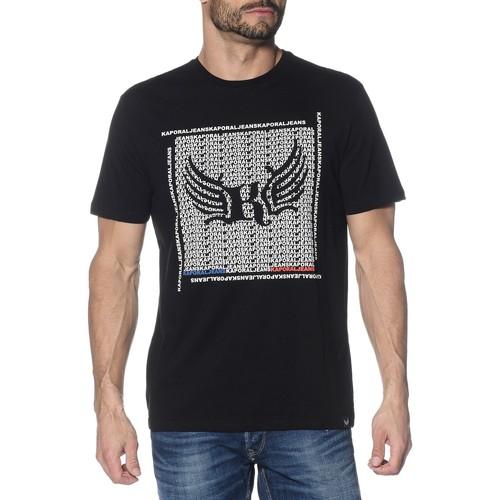 Vêtements Homme T-shirts manches courtes Kaporal Tee-Shirt Pasto Noir