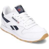 Chaussures Garçon Baskets basses Reebok Sport Classic Leather Blanc,Bleu marine
