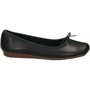 Chaussures Femme Ballerines / babies Clarks FRECKLE ICE LEATHER navy