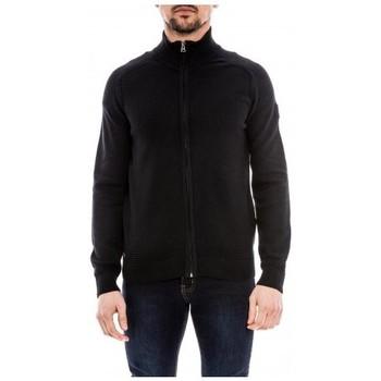Vêtements Homme Gilets / Cardigans Ritchie Gilet zippé col montant coton ANNEX Bleu marine