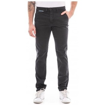 Vêtements Homme Pantalons 5 poches Ritchie Pantalon chino slim CARLTON Bleu marine
