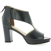 Chaussures Femme Sandales et Nu-pieds Vidi Studio Nu pieds cuir laminé Noir