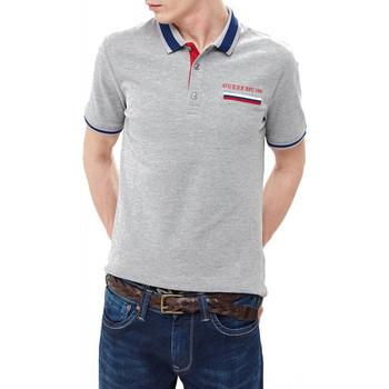 Vêtements Homme Polos manches courtes Guess Polo Homme Jeffrey M91P23 GRIS