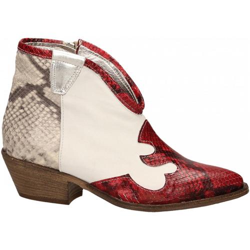Chaussures Femme Bottines Le Pure  bianco-roccia-rosso