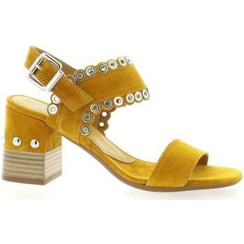 Chaussures Femme Sandales et Nu-pieds Alpe Nu pieds cuir velours  ocre Ocre