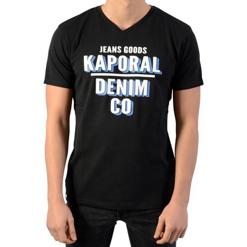 Vêtements Garçon T-shirts manches courtes Kaporal Tee-Shirt Enfant Arrow Noir