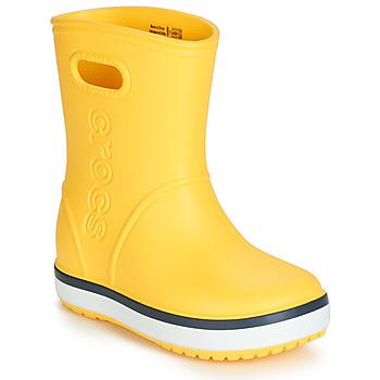 Chaussures Enfant Bottes de pluie Crocs CROCBAND RAIN BOOT K Jaune / Marine