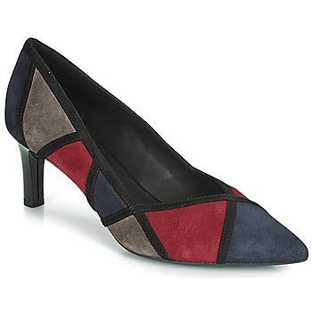 Chaussures Femme Escarpins Geox D BIBBIANA Marine / Bordeau