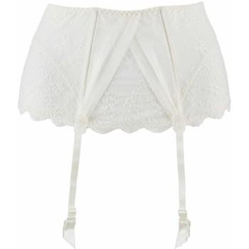 Sous-vêtements Femme Porte-jarretelles Aubade serre taille  à l'amour Nacre