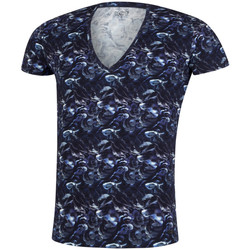 Vêtements Homme T-shirts manches courtes Hot tee-shirt coton fungi Bleu