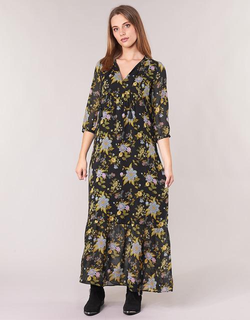 BP30195-02  Ikks  robes longues  femme  noir / multicolore