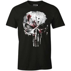 Vêtements Homme T-shirts manches courtes Cotton Division T-shirt The Punisher Marvel - Bloody Skull Noir