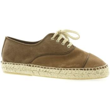Chaussures Femme Espadrilles Pao Espadrille cuir velours Vison