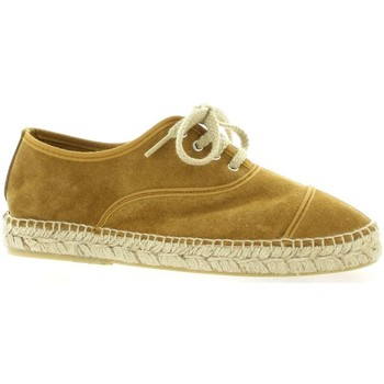 Chaussures Femme Espadrilles Pao Espadrille cuir velours  whisky Whisky