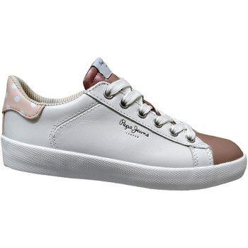 Chaussures Femme Baskets basses Pepe jeans Kioto dotty Blanc/rose