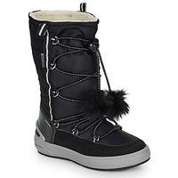 Chaussures Fille Bottes ville Geox J SLEIGH GIRL B ABX Noir