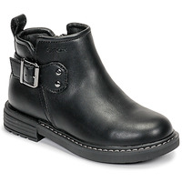 Chaussures Fille Boots Geox J ECLAIR GIRL Noir
