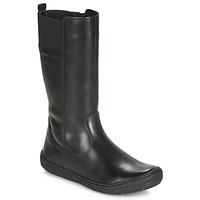 Chaussures Fille Bottes ville Geox J HADRIEL GIRL Noir