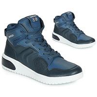 Chaussures Garçon Baskets montantes Geox J XLED BOY Bleu / LED