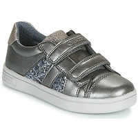 Chaussures Fille Baskets basses Geox J DJROCK GIRL Gris
