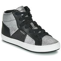 Chaussures Fille Baskets montantes Geox J KALISPERA GIRL Noir / Argent