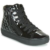 Chaussures Fille Baskets montantes Geox J KALISPERA GIRL Noir
