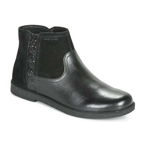 Chaussures Fille Boots Geox J SHAWNTEL Noir