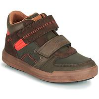 Chaussures Garçon Baskets montantes Geox J ARZACH BOY Marron / Orange