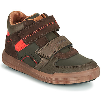 Chaussures Garçon Baskets montantes Geox J ARZACH BOY Marron / Orange