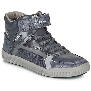 Chaussures Garçon Baskets montantes Geox J ARZACH BOY Bleu / Gris