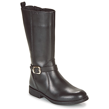 Chaussures Fille Bottes ville Geox JR AGATA Noir